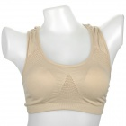 YLY-JML-ZX321 Sports Stretch-Cotton Underwear Bra - Nude