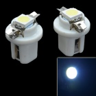 B8.5 SMD 5050 0.3W 12LM White Light Car Instrument Lamp - White (DC 12V / 2 PCS)