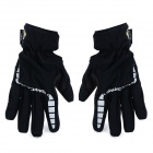 SPAKCT S13G08 Men's Outdoor Full-finger Wind-proof Warm Glove - Black (XL) (Pair)