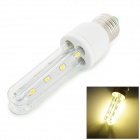 E27-2U E27 8W 500lm 3200K 16 LED 5730 Warm White Light Bulb - Silver (85~265V)
