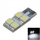 T10 / W5W 0.8W 80lm 4 SMD 5050 LED White Electrodeless Car Instrument Light / Reading lamp - (12V)
