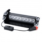 KINGLEASEN HB-803 12V 8W Suction Cup Blue Light LED Flash Light for Car