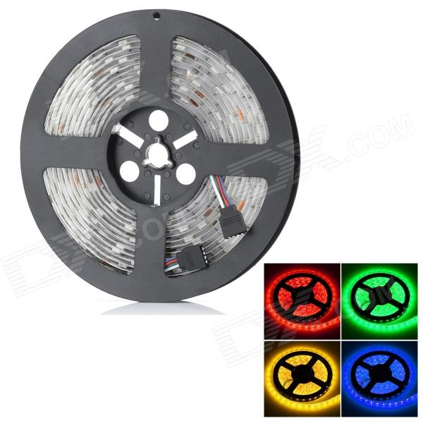 HML Waterproof 72W 300 x SMD 5050 LED RGB Light Car Decoration Light Strip (12V / 5m) zdm waterproof 72w 200lm 470nm 300 smd 5050 led blue light strip white grey dc 12v 5m