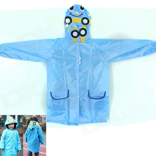 School Bus Children Raincoat - Blue