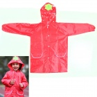 Strawberry Raincoat for Kids - White + Red