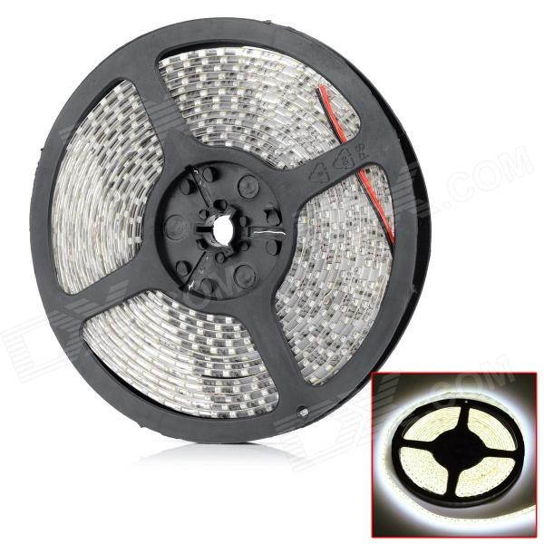 Impermeable 2600lm 3300K 600-3528 SMD LED caliente luz blanca Flexible tira decorativa (12V / 5m)