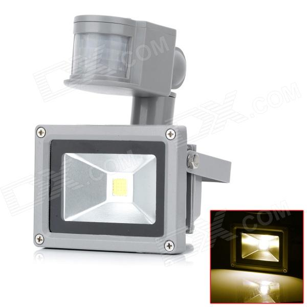 HML 10W 720lm 3300K LED Warm White Light Human Body Infrared Induction Floodlight - (AC 100~240V)