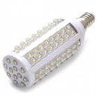 E14 3W 220lm 3500K 108-LED Warm White Light Lamp - White (AC 220~240V)
