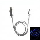 EL Visible Light Micro USB Male to USB Male Data / Charging Cable for Samsung / HTC - White (102cm)