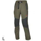 Outto Outdoor Sports Waterproof Polyester Pants for Men - Black + Army Green (L)