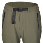 Outto Outdoor Sports Waterproof Polyester Pants para Homens - Preto + Verde Exército (L)