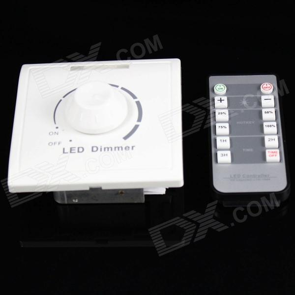 220V Trailing Edge Infrared Remote Triac Dimmer - White (1 x CR2024)