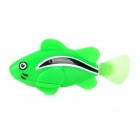 8823 ABS Water Playing Electronic Fish Toy - Green + Black  (4x LR44)