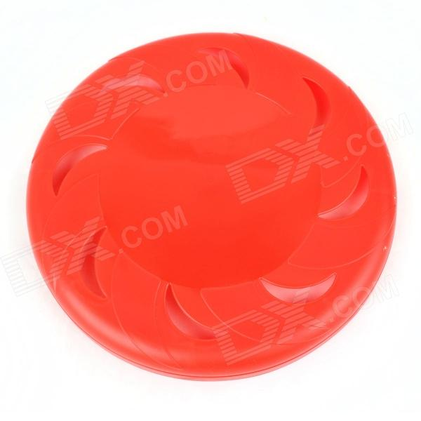 Durable Plastic Pet Frisbee - Red boy most likely to