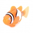 8823 ABS Water Playing Electronic Fish Toy - Light Orange + White + Multi-Colored (4x LR44)