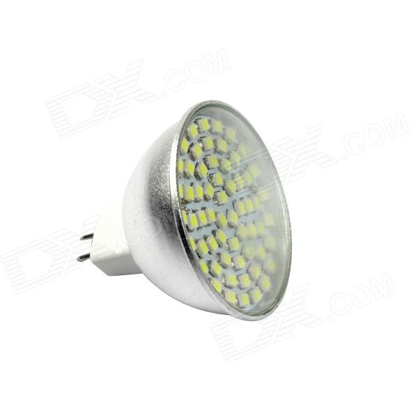 KindFire MR16 4W 300lm 6500K 60 x SMD 3528 LED White Light Spotlight Bulb w/ Cover - (AC/DC 12V) - DXMR16<br>Color Silver Color BIN White Brand KindFire Material Aluminum alloy Quantity 1 Piece Power 4W Rated Voltage OthersAC/DC 12 V Connector Type MR16GX5.3 Emitter Type 3528 SMD LED Total Emitters 60 Chip Brand Huga Chip Type Huga Actual Lumens 300 lumens Theoretical Lumens 340 lumens Color Temperature Others6000~6500K Dimmable no Beam Angle 90~120 ° Packing List 1 x LED light<br>