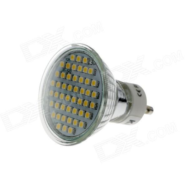 KindFire GU10 3W 260lm 3500K 48 x SMD 3528 LED Warm White Light Spotlight Bulb w/ Cover - (220~240V) mr16 3w 3 led 260 lumen 3500k warm white light bulb 12v