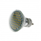 KindFire GU10 3W 260lm 3500K 48 x SMD 3528 LED Warm White Light Spotlight Bulb w/ Cover - (220~240V)