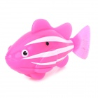 8823 ABS Water Playing Electronic Fish Toy - Light Pink + White  (4x LR44)