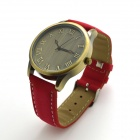 ZY-201 Stylish Women's Quartz Wrist Watch w/ Roman Numeral Scale - Red (1 x 626)
