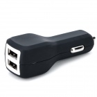 S-What XY10W-806 Dual-USB Universal Car Charger Adapter - Black + White