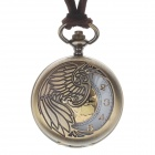 Retro Zinc Alloy Hollow out Pointer Women's Quartz Pocket Watch - Bronze (1 x LR626)