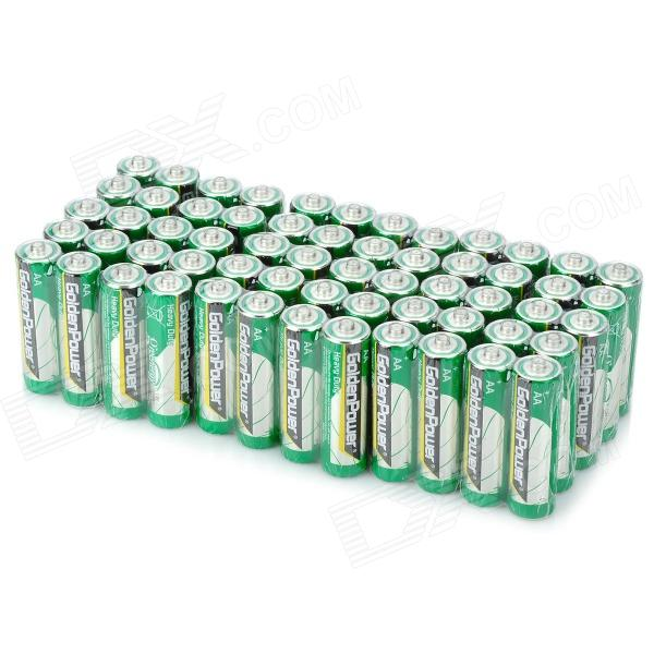 GoldenPower GR6M 1.5V AA baterías desechables Set - Blanco + Verde (60 PCS)