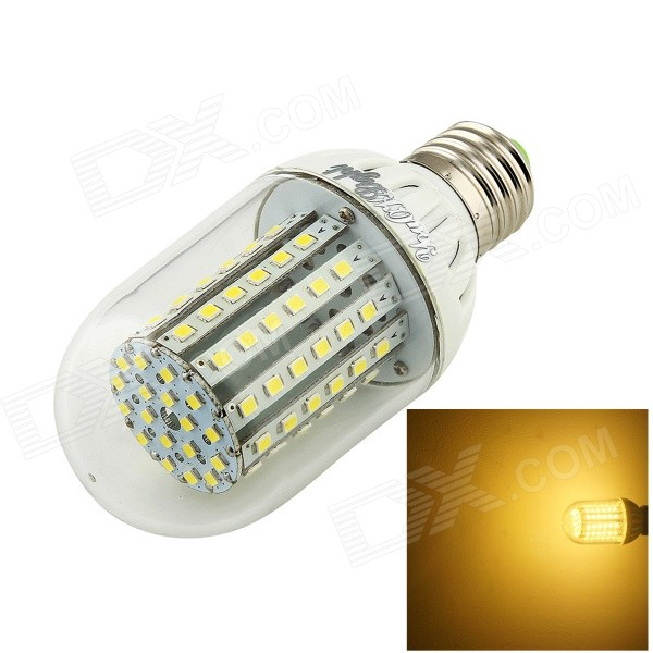 AF-C055D E27 5.5W 420lm 3500K 90-3528 SMD LED Warm White Lamp - White (8~16V)