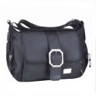 Stylish Aslant Oxford Messenger - Black
