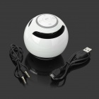 Portable Bluetooth v3.0 Speaker w/ FM / TF / Microphone / Hands-Free - White + Black