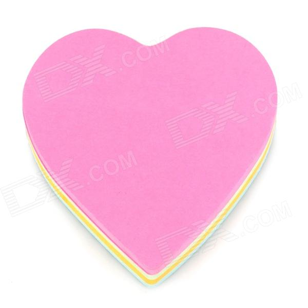 RHODIA C-001 Heart Style Self-sticky Cute Note Memo Pads - Deep Pink + Yellow (140 Sheet) never rose gold sticky notes and memo pads set cute post note paper notepads set fashion office accessories stationery store