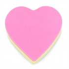 RHODIA C-001 Heart Style Self-sticky Cute Note Memo Pads - Deep Pink + Yellow (140 Sheet)
