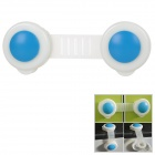 Mini Baby Infant Child Kid Safety Cabinet Door Fridge Drawer Lock - White + Sky Blue