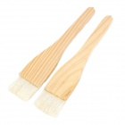 MS0-01 Wood Barbecuing Brushes - Wooden + White (2 PCS)