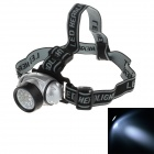 3W 160lm 4-Mode 14-LED White Light Head Lamp - Silver + Black (3 x AAA)