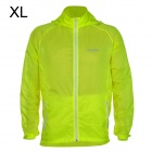 Outto #009A Rainproof Outdoor Sports Polyester Jacket for Men - Fluorescent Green + White (XL)