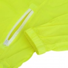 Outto # 009A Rainproof Outdoor Sports Poliéster Jacket para Homens - Fluorescente Verde + Branco (XL)