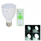 E27 4W 5000K 42-LED White Light Rechargeable Bulb w/ Remote Controller - White (AC 85-265V)