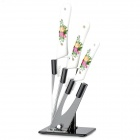 "Bestlead 4"" / 5"" / 6"" Ceramics Knife Set - White + Yellow + Multi-Colored"