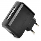 USB EU Plug Power Charger for Universal Tablet PC - Black