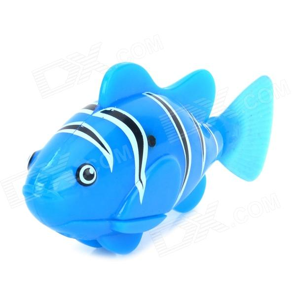 8823 ABS Water Playing Electronic Fish Toy - Blue + Black  (4x LR44)