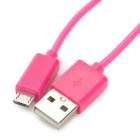 RIchino RS-M01 Micro USB Male to USB Male Charging Cable w/ Waterproof Case - Deep Pink (100 cm)