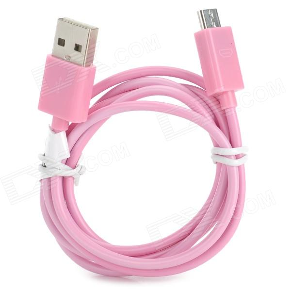 RIchino RS-M01 Micro USB Male to USB Male Charging Cable w/ Waterproof Case - Pink (100 cm) richino rs m01 usb to micro usb data charging cable for nokia samsung htc motorola orange