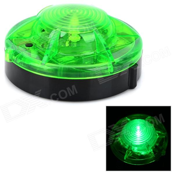 HL-880 Universal 1-LED 2-Mode Green Car / Bike / Motorcycle Warning Light - Black + Green (4 x AA)