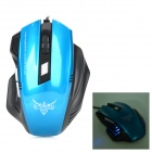 USB 2.0 Kabel 2400dpi Optical Gaming Mouse LED - Blau + Schwarz