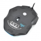 USB 2.0 Wired 2400dpi Optical LED Gaming Mouse - Blue + Black
