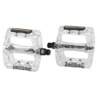 Plastic Pedals for Mountain Bike Bicycle - Translucent White (Pair)