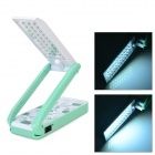 SB-510 Folding Type 1.7W 190lm 3000K 30-LED Warm White Light Desk Lamp - Green + White (AC 220V)