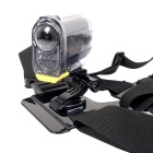 DUALANE Fashionable Integrated Fixed Chest Strap Camera Accessory for SONY AS15/AS30 - Black