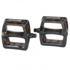Plastic Pedal for Mountain Bike Bicycle - Translucent Black (Pair)